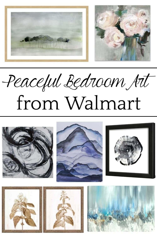 Peaceful Bedroom Art Ideas from Walmart