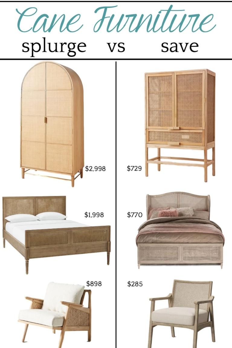 Save vs Splurge Cane Furniture
