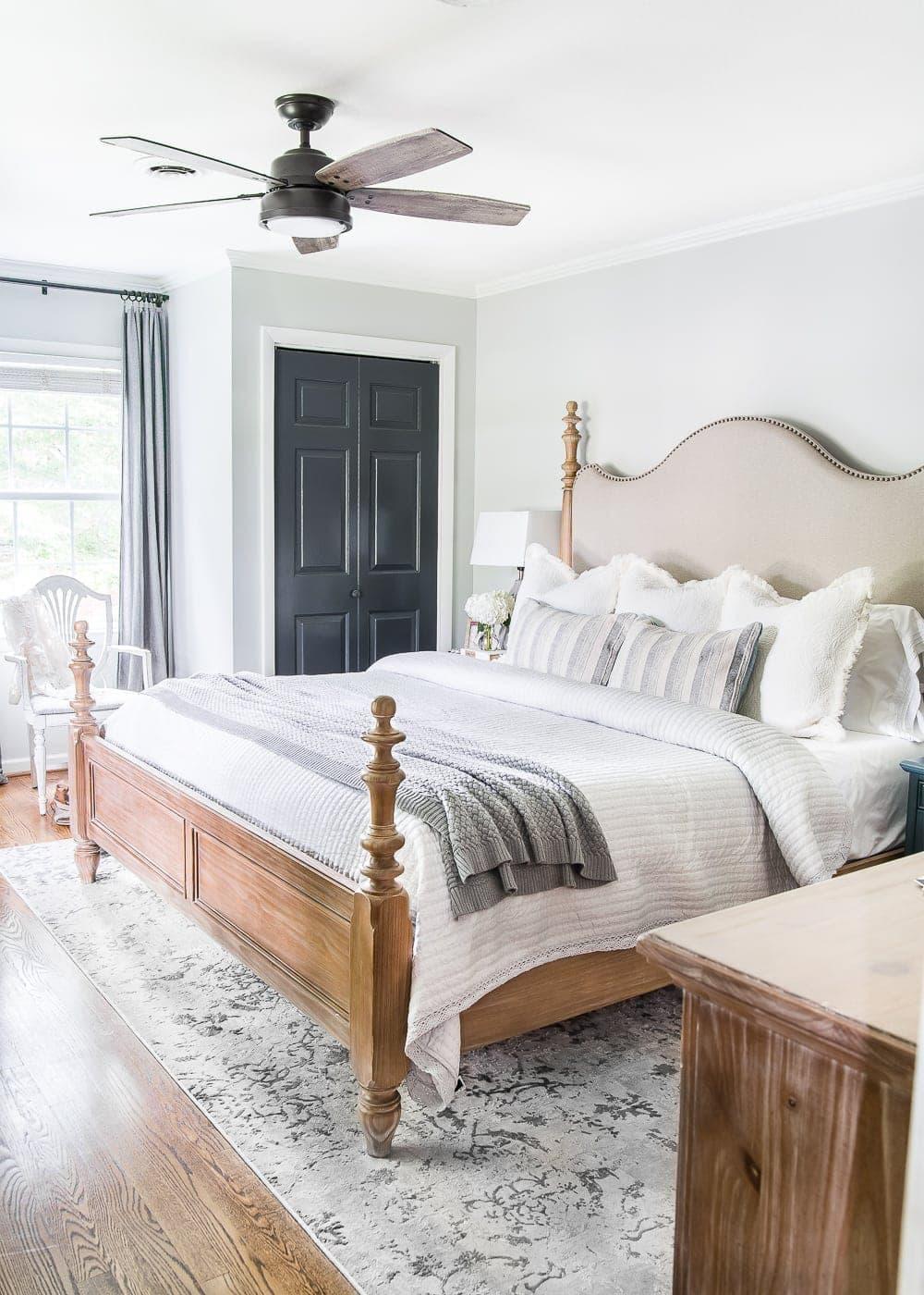French farmhouse master bedroom