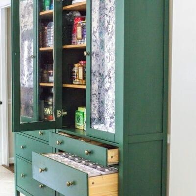 IKEA Hemnes Pantry Cabinet Organization