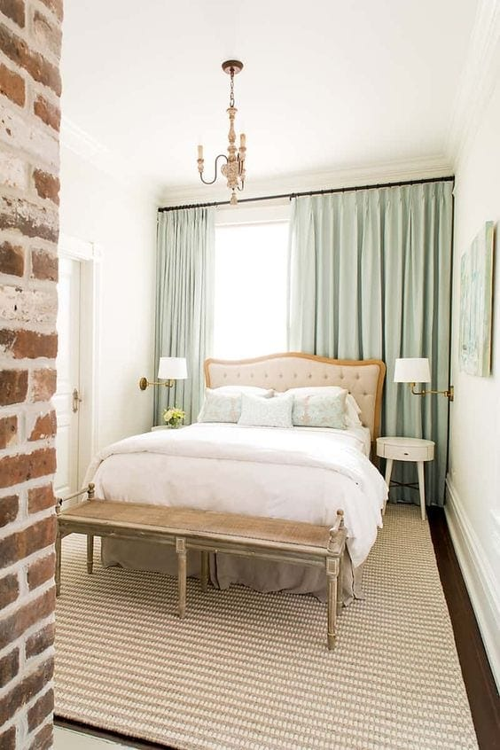 A vintage chic guest bedroom mood board with secondhand elements and budget-friendly home decor finds. #guestbedroom #bedroomdesign