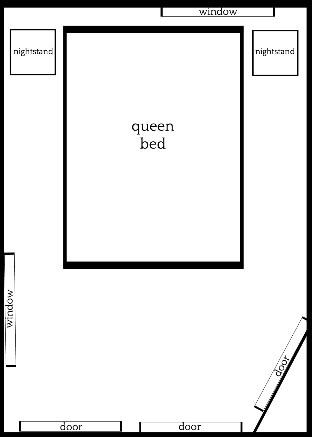 3 Furniture Layouts for a Small Bedroom - Bless\'er House