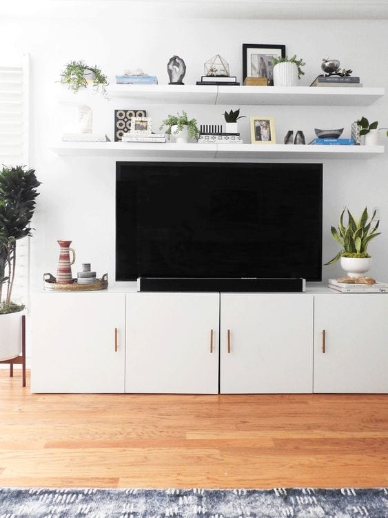 12 Ideas to Decorate Around a TV - Bless'er House