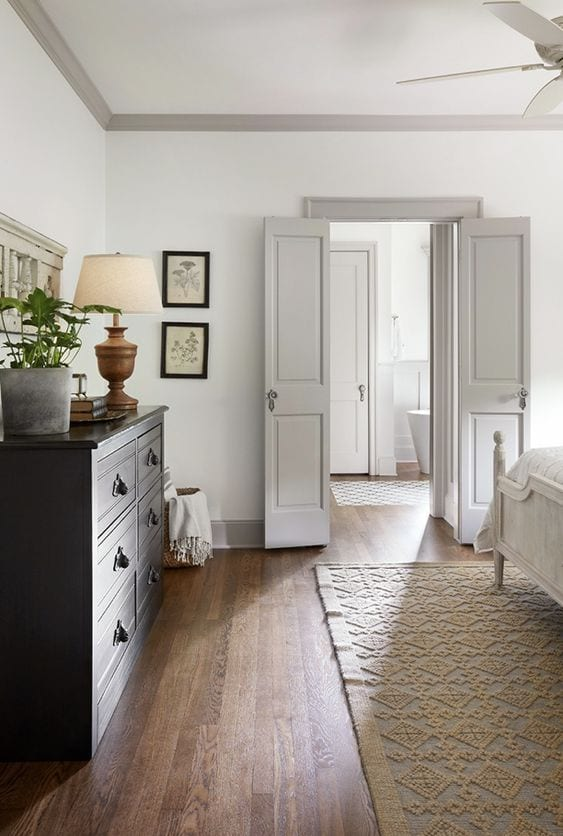 grey painting interior doors for bedroom | The Best Paint Colors for Gray Trim - Bless'er House