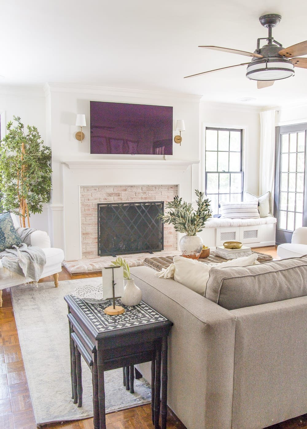 Neutral Fall Faux Greenery   Why ditching traditional fall colors is a better decorating decision to stretch your dollars + the best neutral fall greenery and decor on sale.