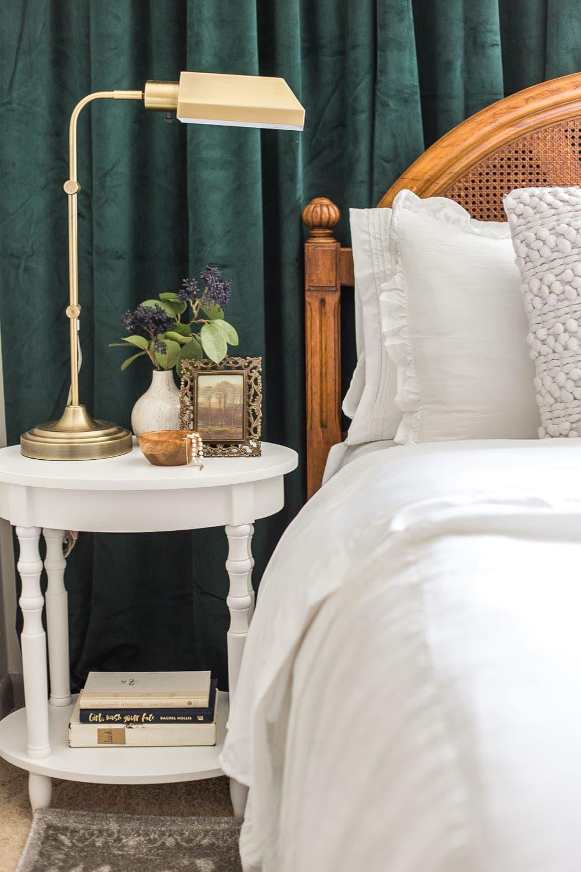 Guest Bedroom Nightstand Decor