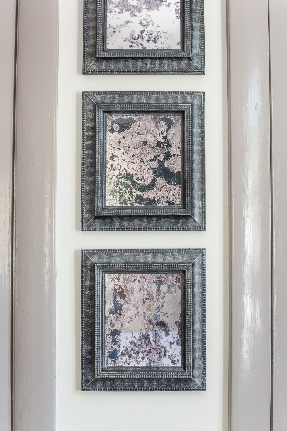 How to make DIY antique mirrors using old secondhand picture frames easily and without the mess.