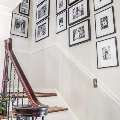 Our Updated Family Stairway Gallery Wall