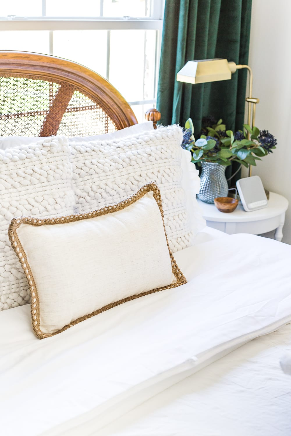 38 Guest Bedroom Essentials | Invest in soft sheets and have 2-3 types of pillows for added comfort.