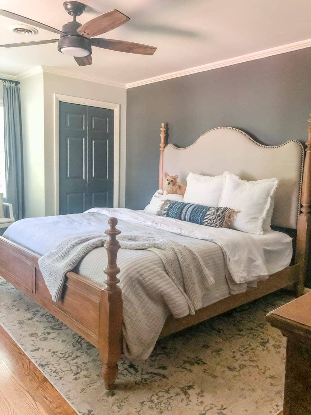 """A full """"before"""" tour and moody master bedroom refresh plans to reclaim our space after the baby co-sleeping phase   ideas for pulling off high-end for less."""