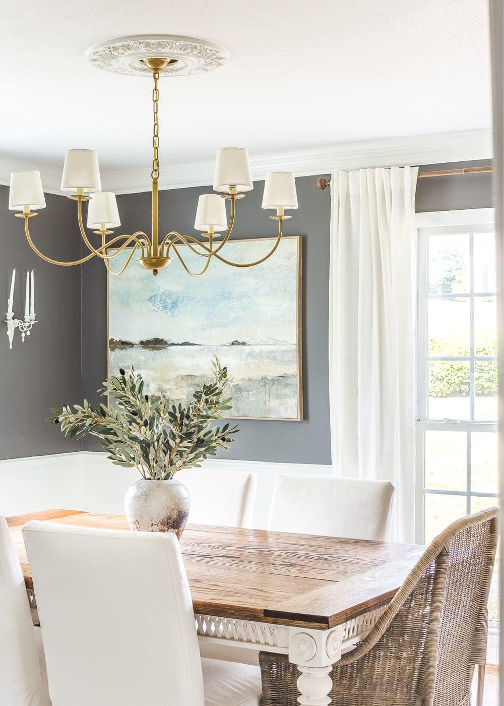 How to Choose Paint Colors for Your Home Perfectly Every Single Time | Benjamin Moore Kendall Charcoal Gray Dining Room