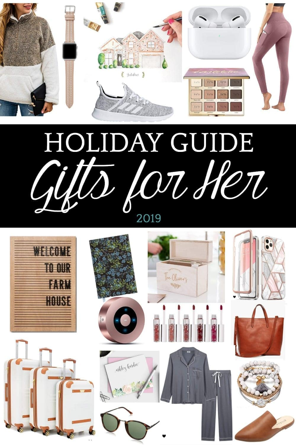 Holiday Gift Guide for Her 2019 | 50 of the best gifts for her for 2019 with researched top-rated favorites in beauty, fashion, tech, self-care, lifestyle, and personalized sentimental gifts.