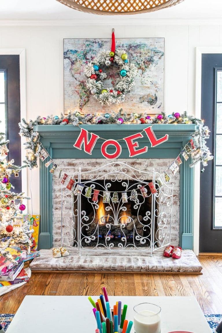Colorful Christmas Playroom & 4 Holiday Decorating Tricks