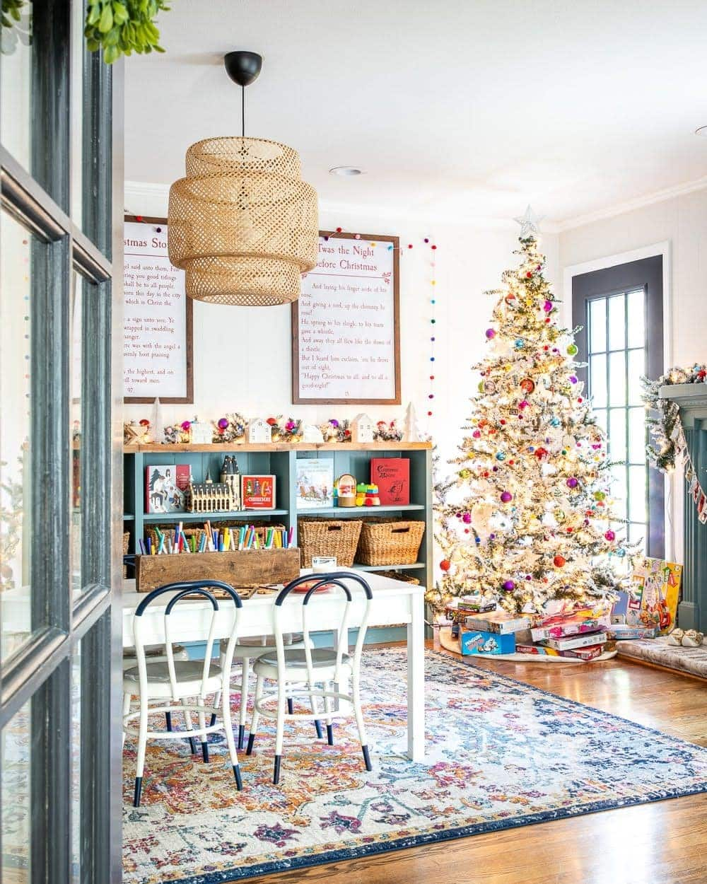 Colorful Christmas Playroom