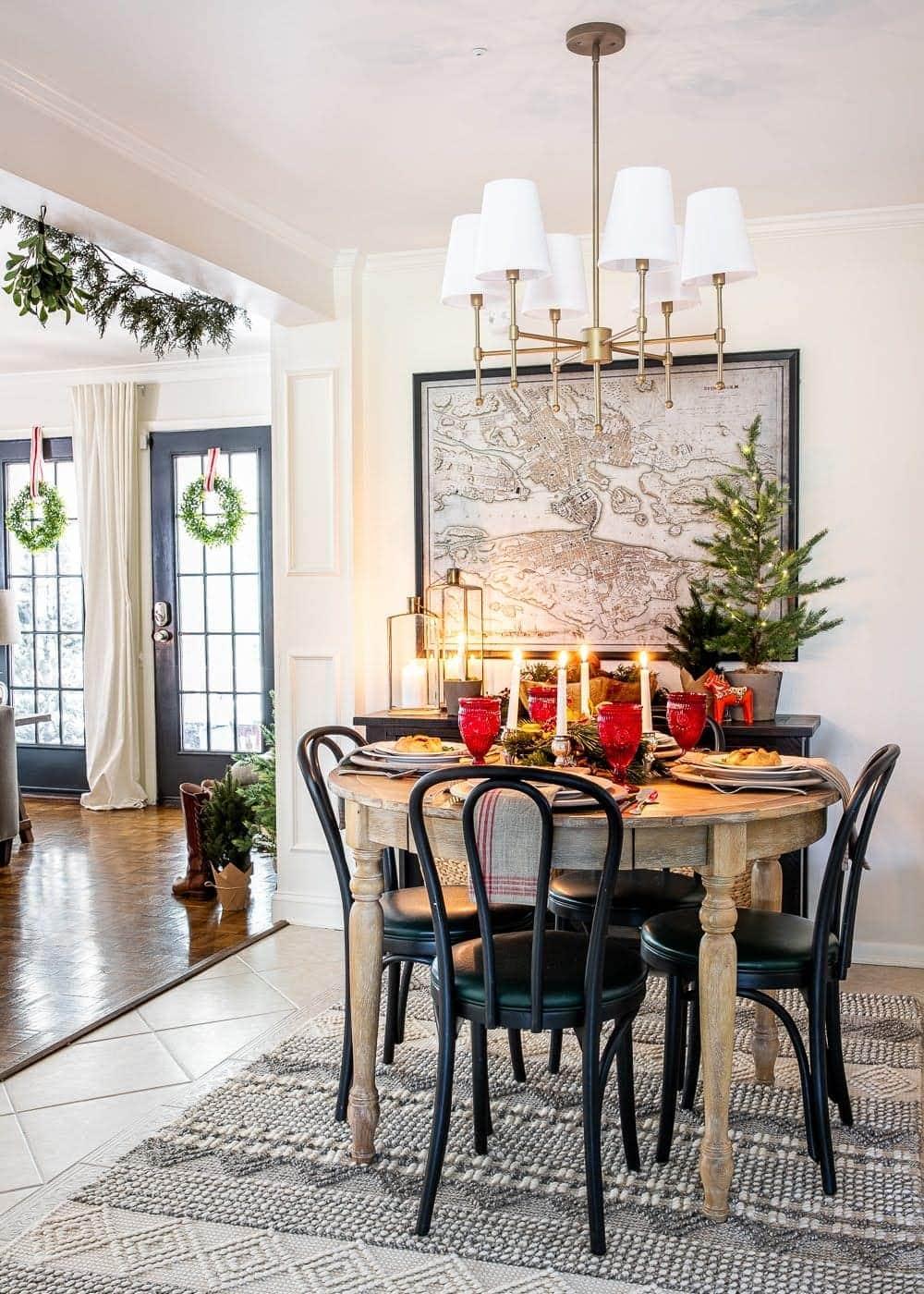 Swedish Christmas breakfast nook