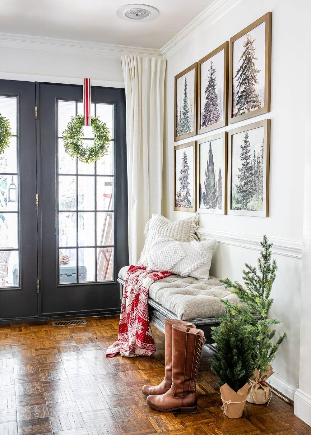 Vintage Christmas Tree Gallery Wall Printable Set Bless Er House