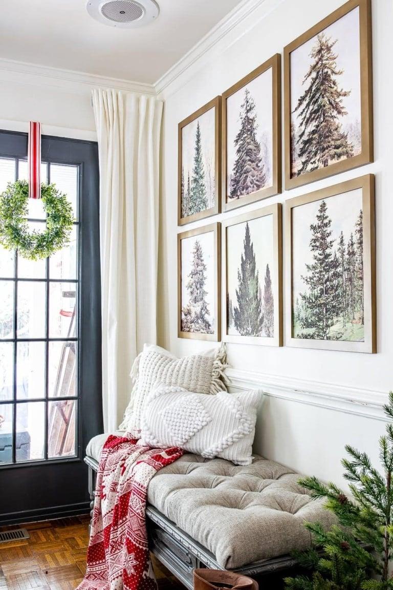 Vintage Christmas Tree Gallery Wall Printable Set