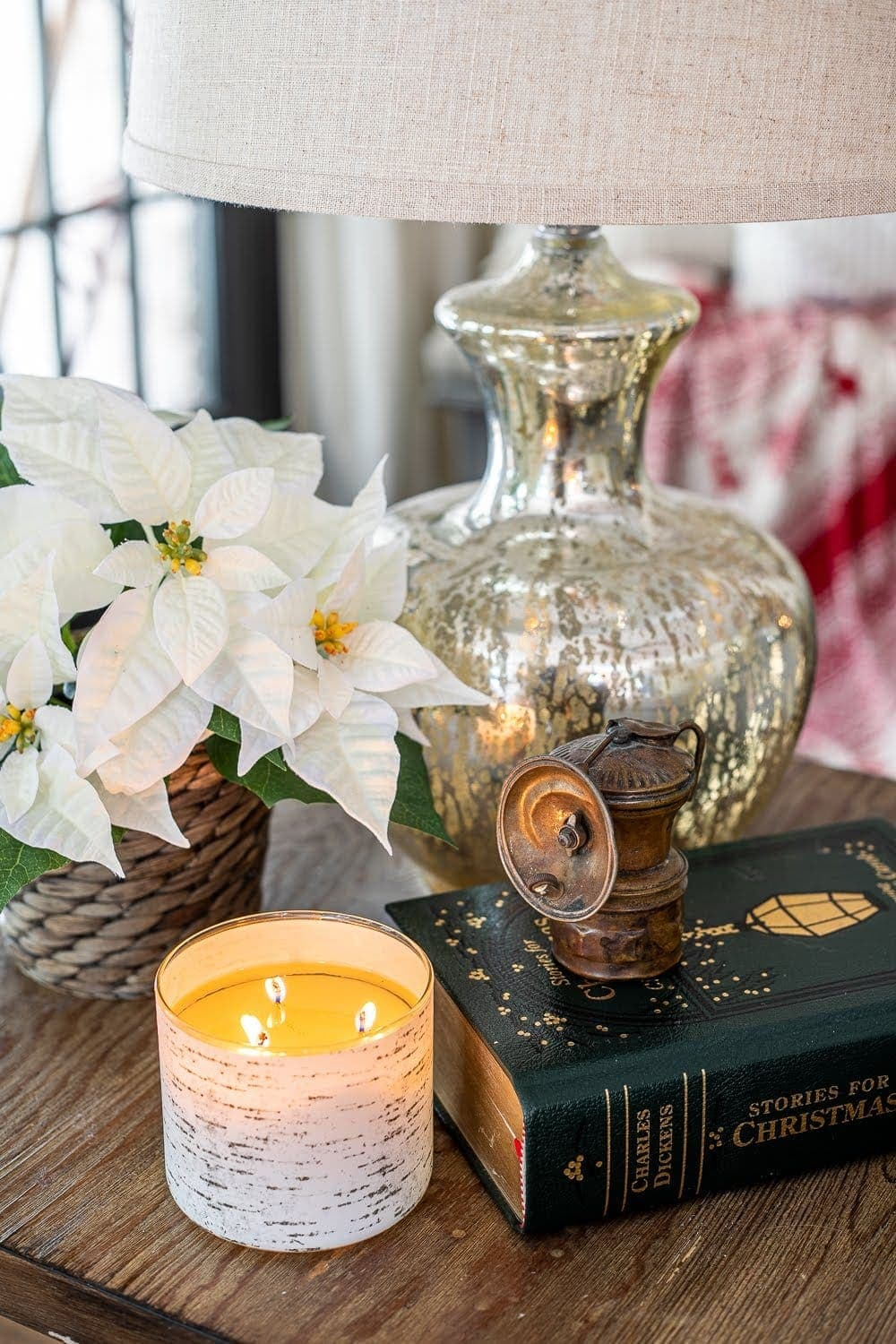 Display family artifacts in vignettes on end tables, coffee tables, and dresser tops.