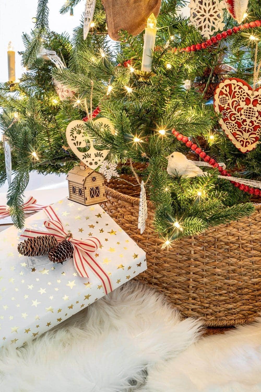 Swedish Christmas ornaments and gift wrap