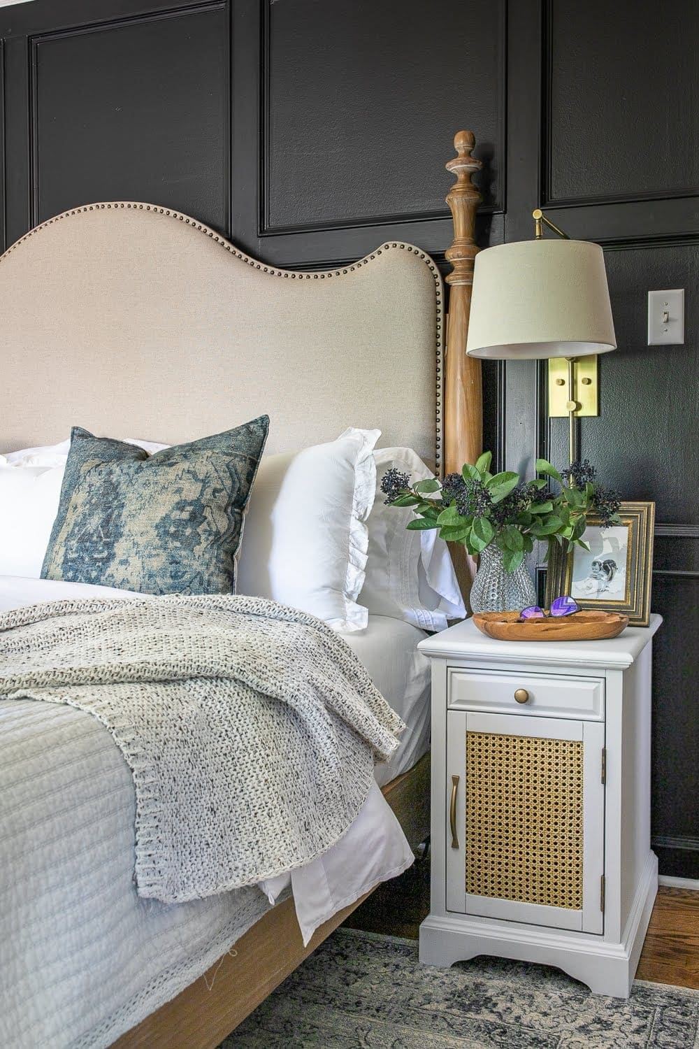 Diy Cane Nightstand Makeover Bless Er House