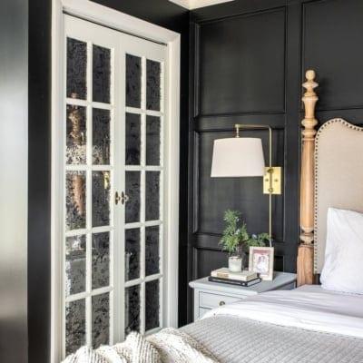 Master Bedroom Update – Mirrored French Closet Doors