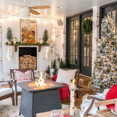 Cozy Christmas Back Porch