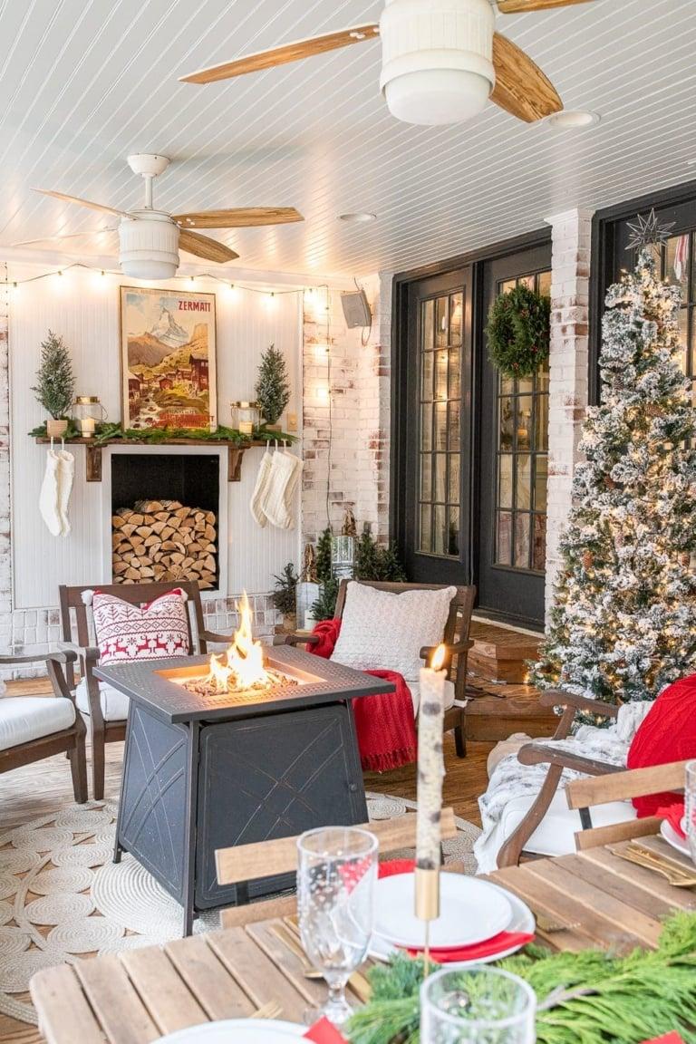 Cozy Christmas Back Porch
