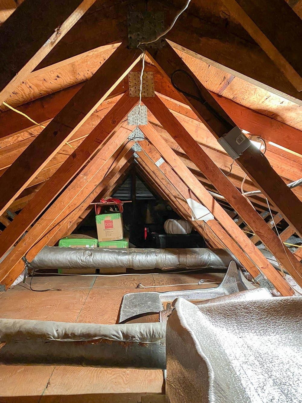 attic storage and seasonal storage bins