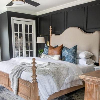 Our Moody Modern Vintage Master Bedroom Reveal!