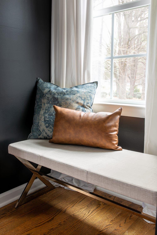 master bedroom bench window seat