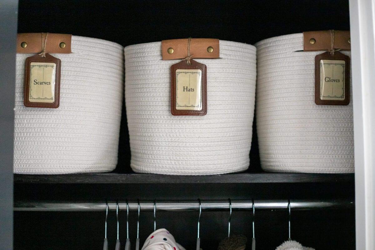 coat closet labels