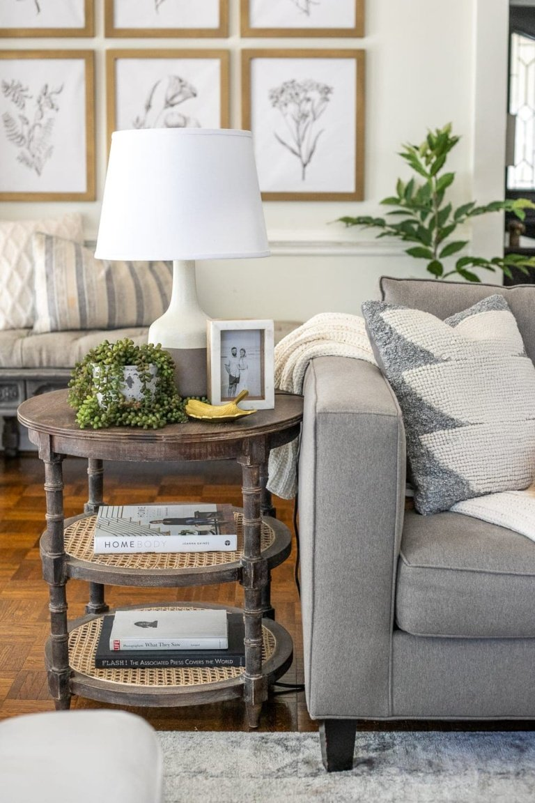 Simplified Decorating: How to Style End Tables