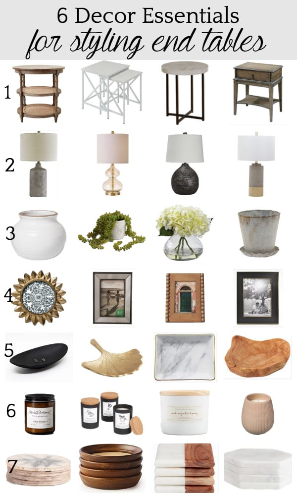 6 decor essentials for styling end tables