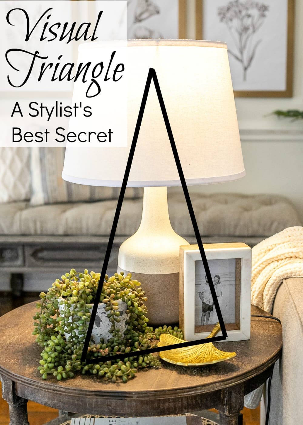 the visual triangle and how to style end tables
