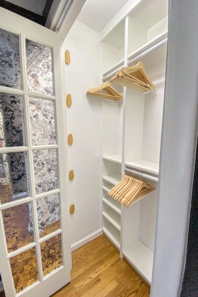 DIY IKEA Closets in Our Master Using Billy Bookcases