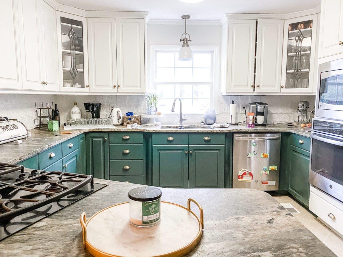 kitchen countertop before