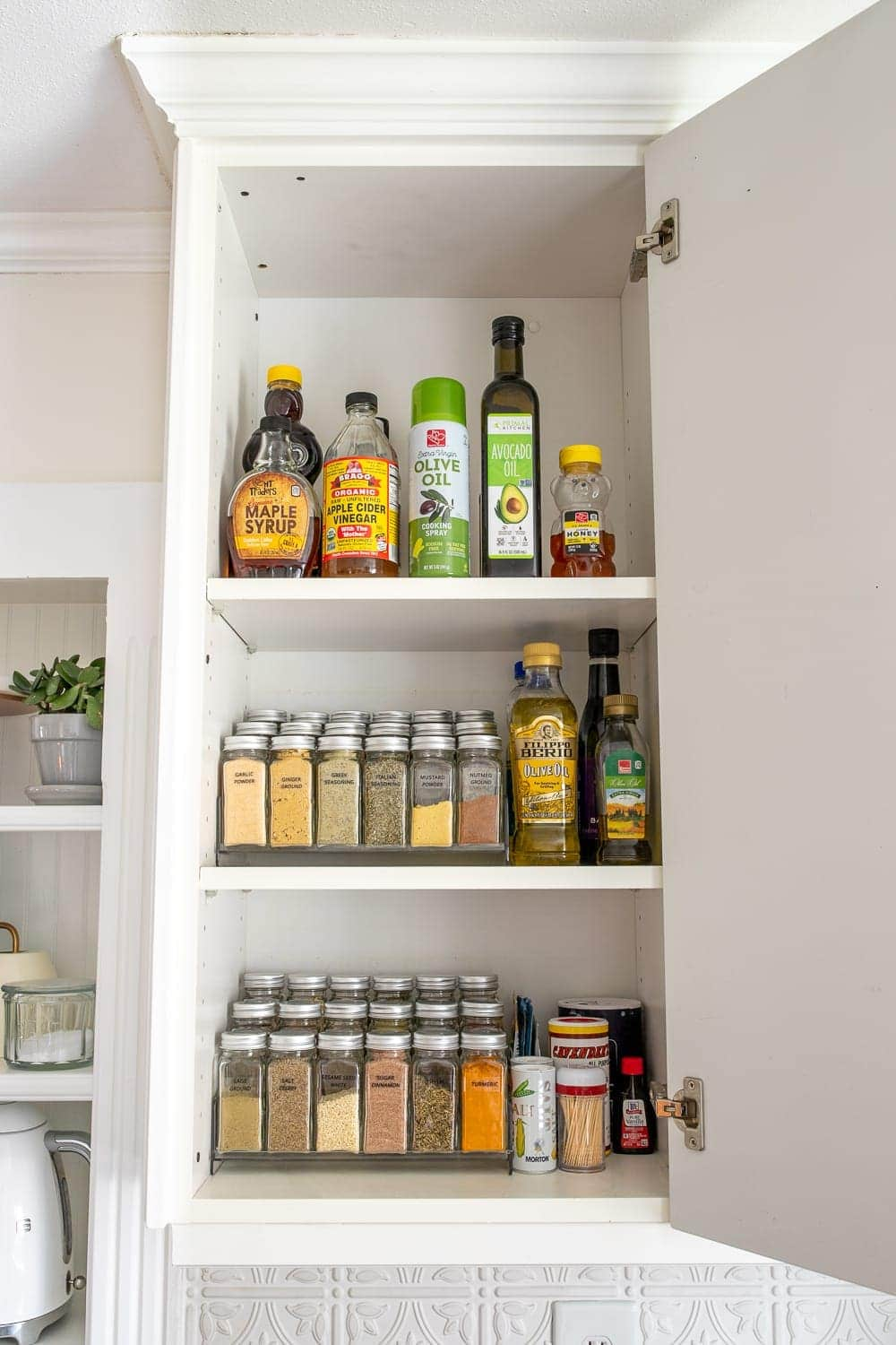 Kitchen Organization Makeover | Spice Cabinet Organization