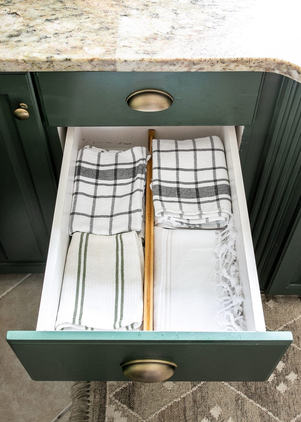 Kitchen Organization Makeover | Dish Towel Organization