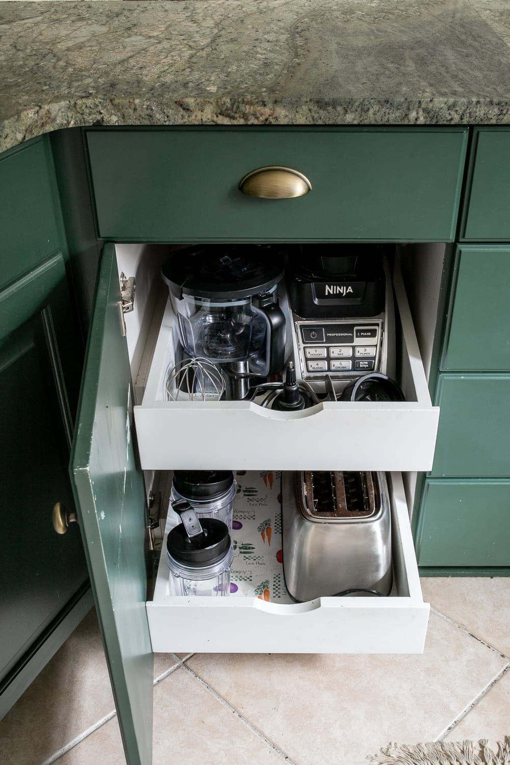 Kitchen Organization Makeover | Small Appliance Cabinet Organization