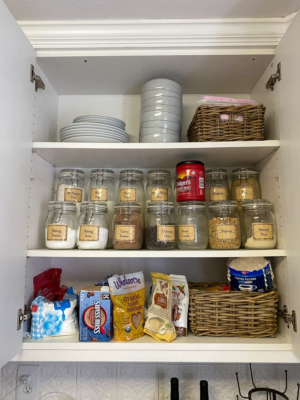 Kitchen Organization Makeover | Pantry Cabinet Before