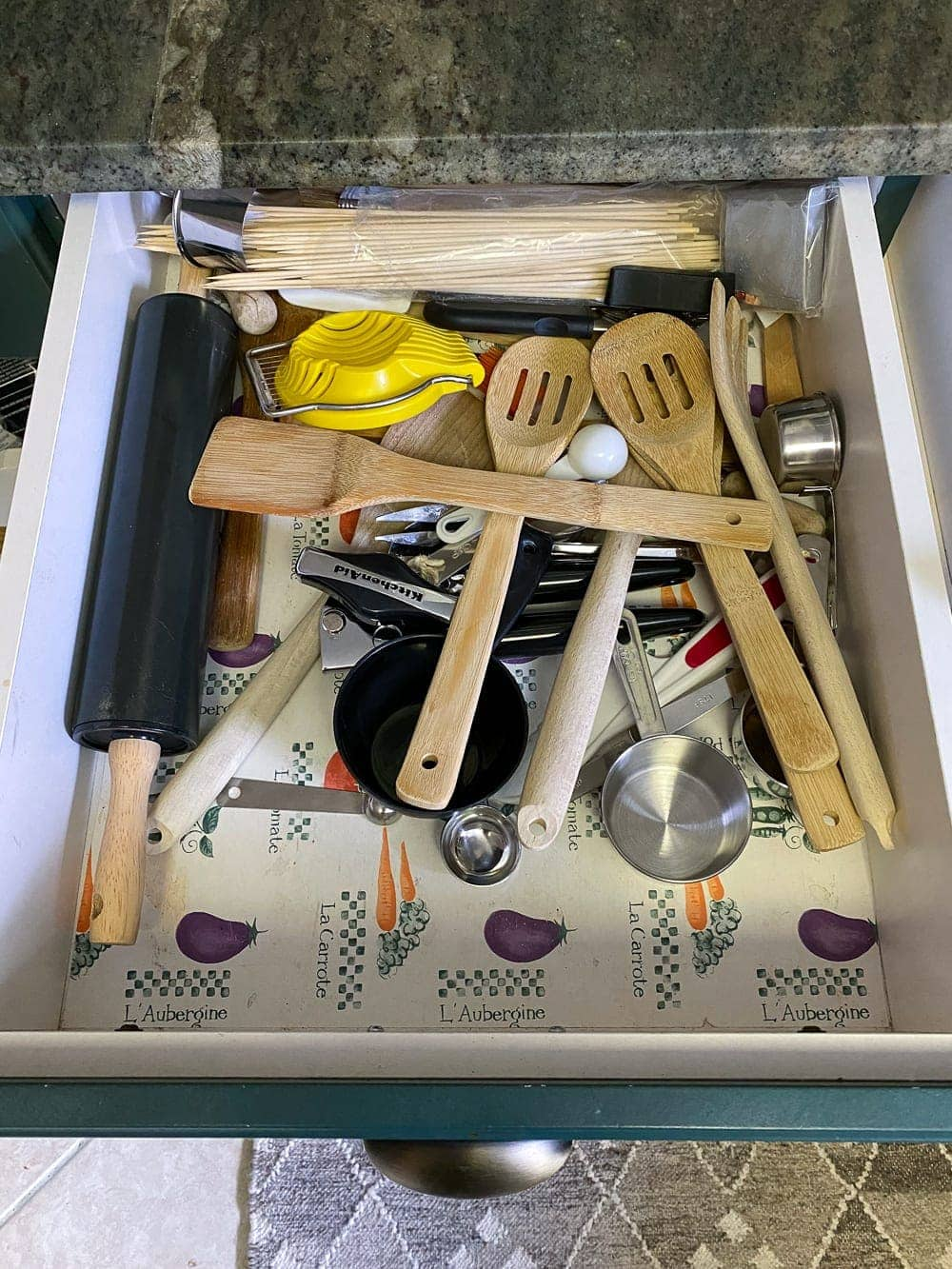 Kitchen Organization Makeover | Utensil Drawer Before