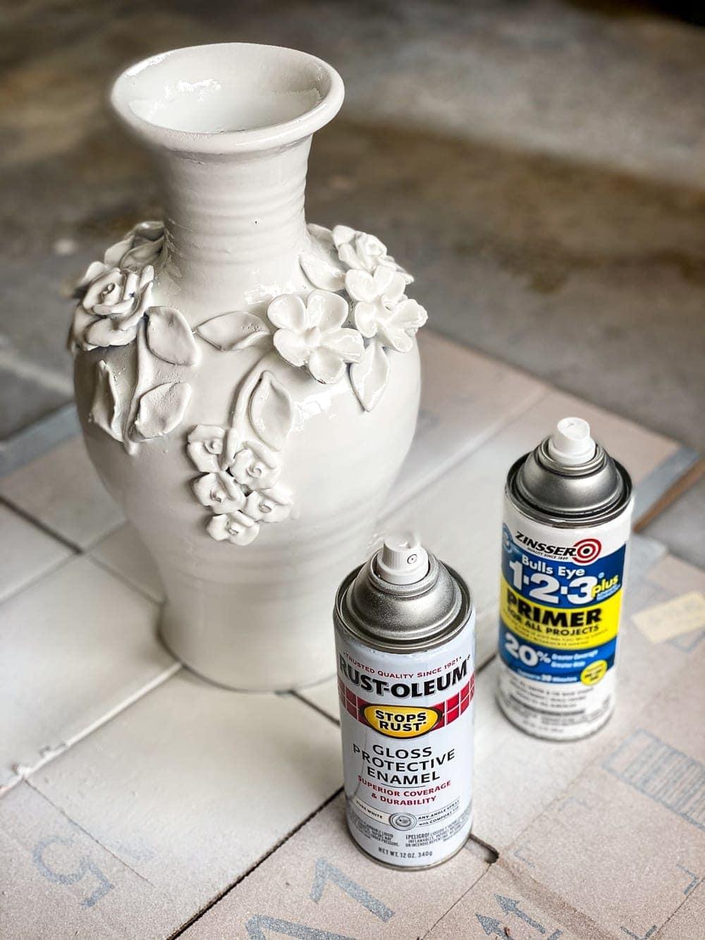 ceramic paint vase makeover