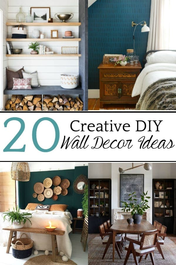 20 Creative DIY Wall Decor Ideas | A round-up of 20 of the best DIY wall decor ideas plus tutorials and tips to pull off the look easily and get the designer look for less.