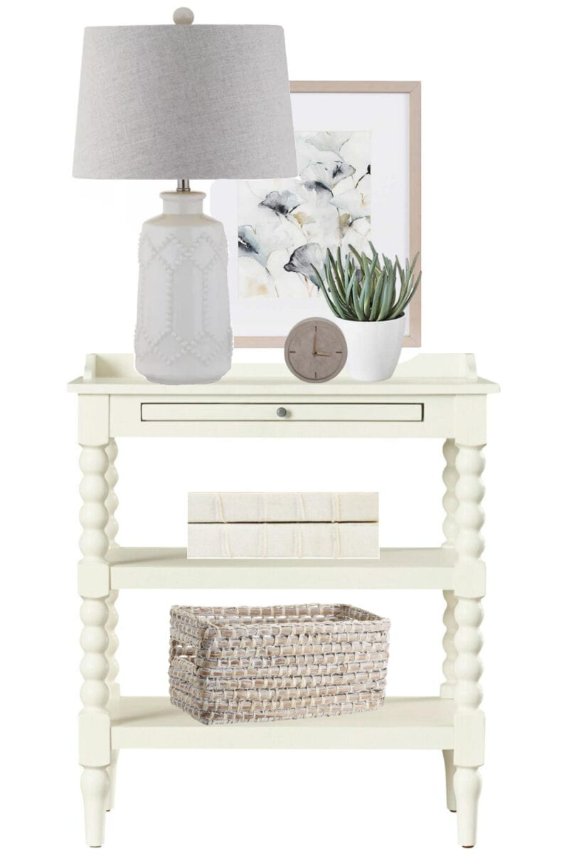 Nightstand Decor Ideas | 4 rules for nightstand decor to keep it pretty, functional, and clutter-free plus 4 nightstand decor ideas for all styles.