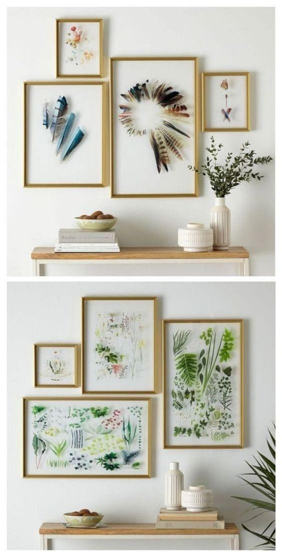 DIY Wall Decor Ideas | pressed flower art