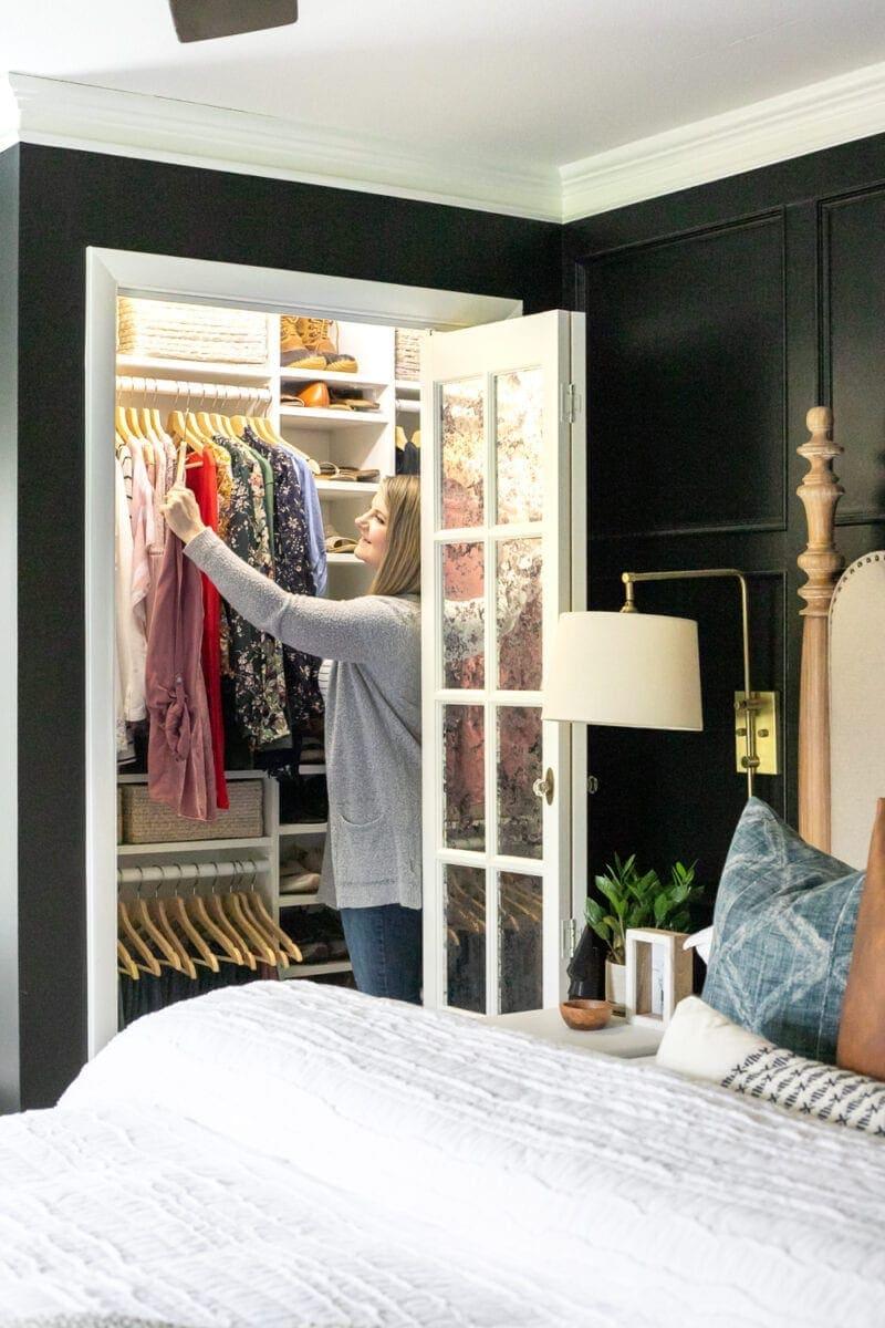 Small Master IKEA Closet