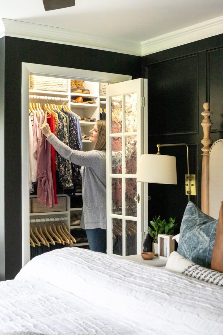 Our Small Master IKEA Closet Reveal!