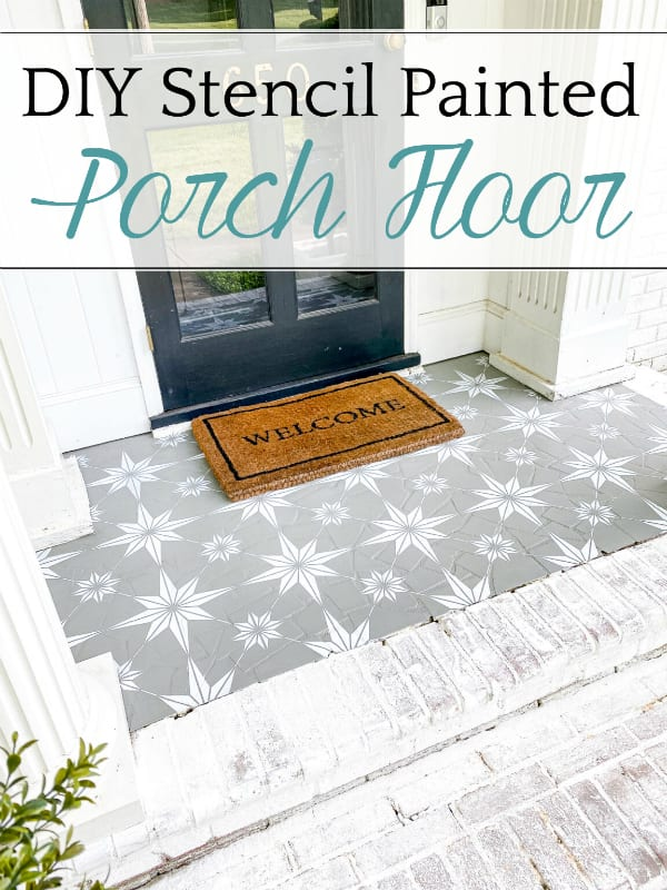 DIY Stencil Painted Porch Floor with Porch Paint   How to stencil a porch floor using porch paint + the method to make your design look flawless and how to make it last.