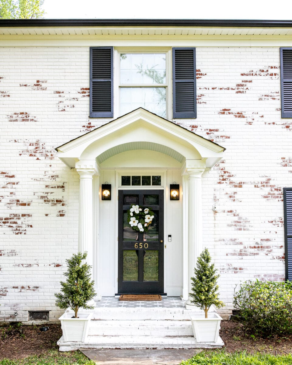 Porch makeover using porch paint