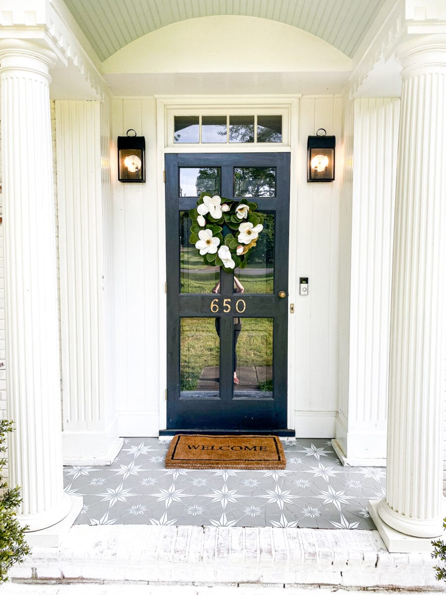 Porch floor makeover using porch paint